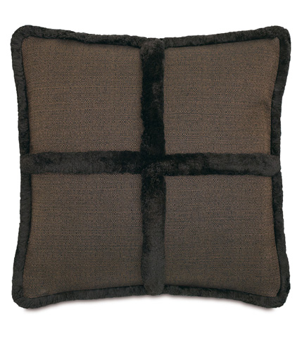 Eastern Accents - Walden Bark Pillow with Brush Fringe - DPD-361-J