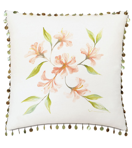 Eastern Accents - Hand-Painted Lavinia Motif Pillow - DPE-389