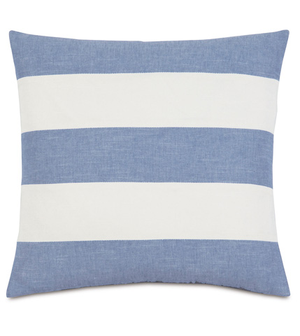 Eastern Accents - Duvall Denim Stripes Pillow - EHA-05