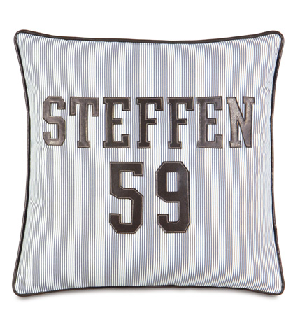 Eastern Accents - Avox Charcoal Personalized Pillow - ESO-06