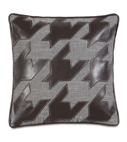 Eastern Accents - Duvall Slate Pillow with Houndstooth - ESO-07