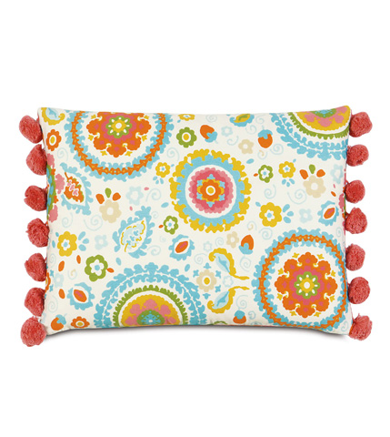 Eastern Accents - Kennedy Splash Pillow with Ball Trim - ESP-07