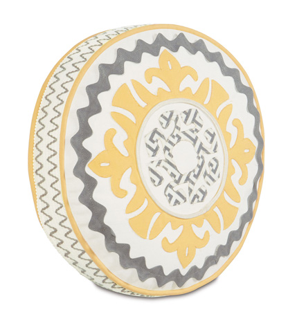 Eastern Accents - Suzani Sunshine Tambourine Pillow - ESU-05