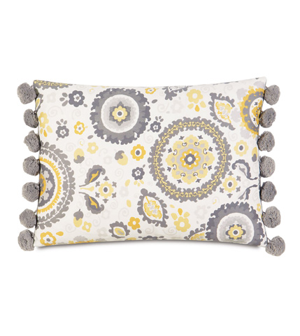Eastern Accents - Kennedy Sunshine Pillow with Ball Trim - ESU-07