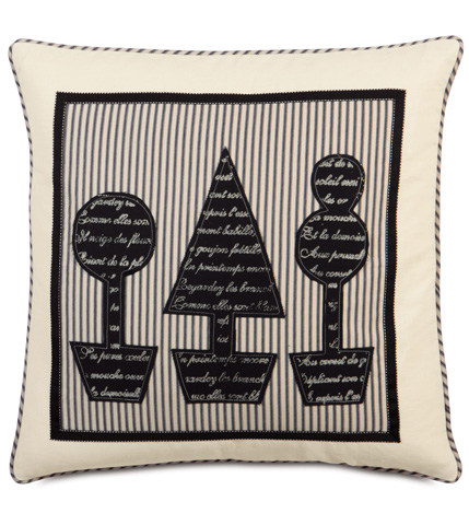 Eastern Accents - Fullerton Ink Topiary Block Printed Pillow - EVY-03