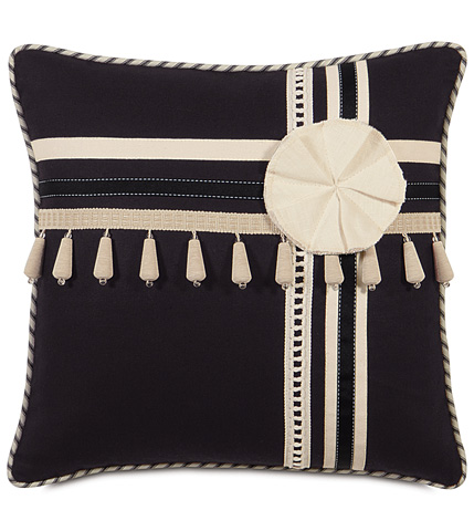 Eastern Accents - Fullerton Ink Pillow with Trims - EVY-07