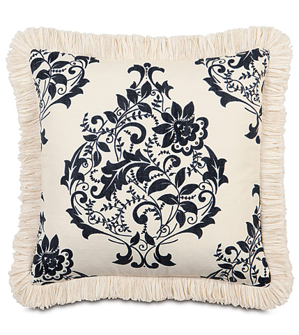 Eastern Accents - Evelyn Pillow with Brush Fringe - EVY-11