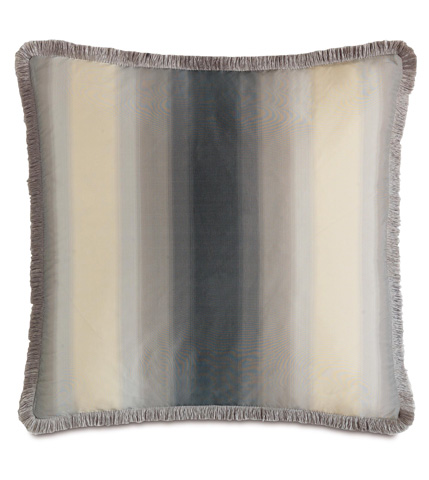 Eastern Accents - Soni Slate Pillow with Brush Fringe - EZR-06