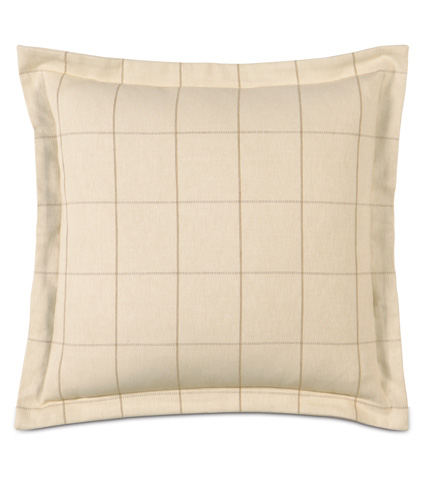 Eastern Accents - Franklin Vanilla Pillow with Flange - GLG-06