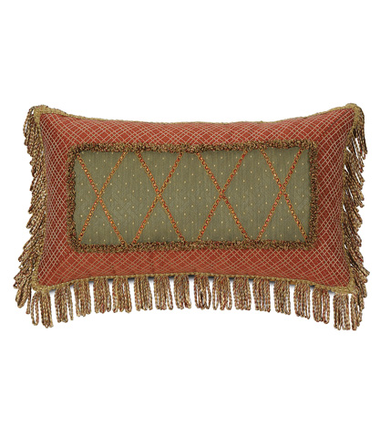 Eastern Accents - Quentin Olive Mitered Pillow - GLN-12