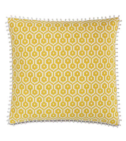 Eastern Accents - Zuni Lemon Pillow with Loop Trim - LAN-03