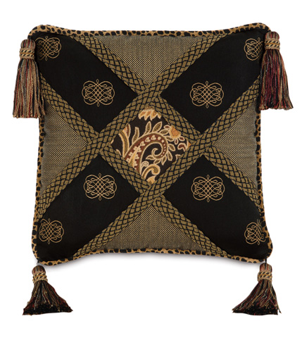 Eastern Accents - Langdon Diamond Collage Pillow - LNG-11