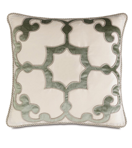 Eastern Accents - Lourde Motif Pillow with Cord - LUR-07