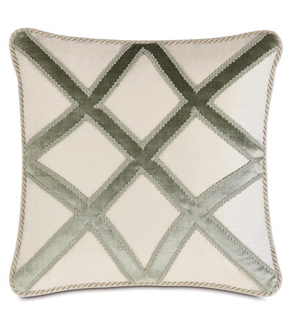 Eastern Accents - Edris Ivory Pillow with Cord - LUR-08