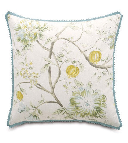 Eastern Accents - Magnolia Mint Pillow with Gimp - MAG-03