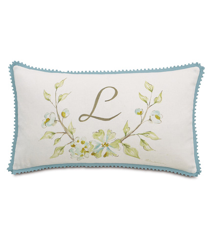 Eastern Accents - Hand-Painted Monogram Pillow - MAG-12