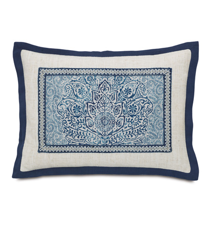 Eastern Accents - Martinique Sapphire Pillow with Flange - MAR-11