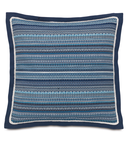 Eastern Accents - Grover Indigo Pillow with Flange - MAR-12