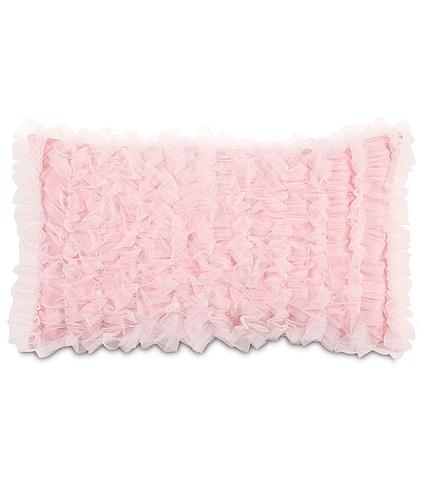 Eastern Accents - Ballet Blush Pillow with Ruffles - MAT-06