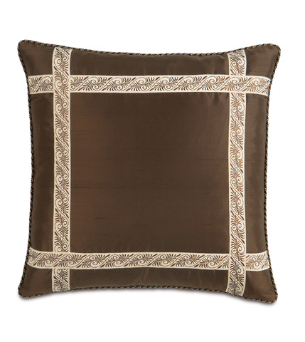 Eastern Accents - Serico Bown Pillow with Border - MIC-05