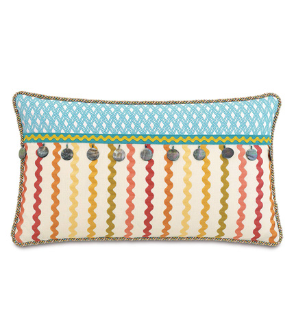Eastern Accents - Mambo Pillow with Beaded Trim - MLD-02