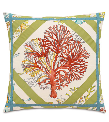 Eastern Accents - Maldive Pillow with Ribbons - MLD-08