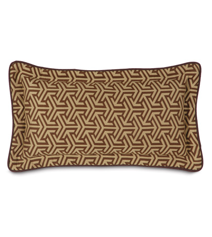 Eastern Accents - Mondrian Earth Pillow with Flange - MND-159-06