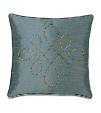 Eastern Accents - Edris Mineral Pillow with Scroll - MOT-05