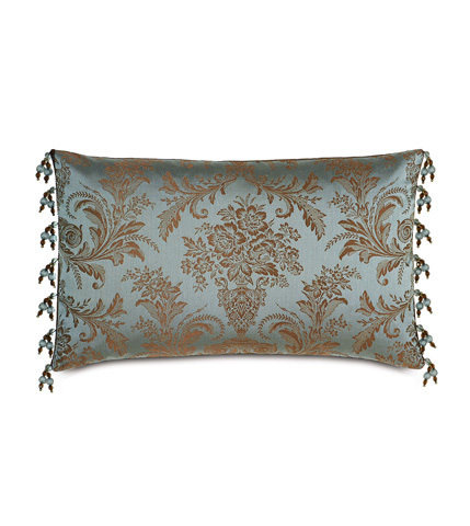 Eastern Accents - Foscari Pillow with Beaded Trim - MOT-06