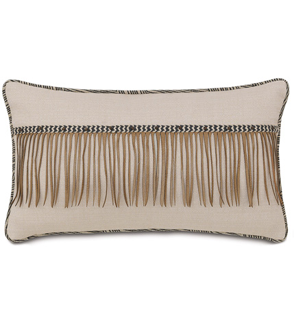 Eastern Accents - Vivo Bisque Pillow with Fringe - NAY-06
