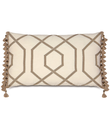 Eastern Accents - Witcoff Ivory Pillow with Ribbon Design - RAY-02