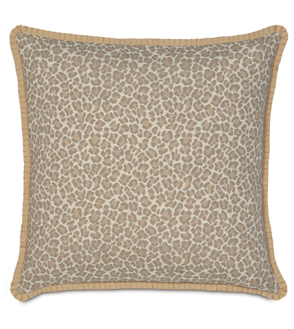 Eastern Accents - Parrish Fawn Pillow with Pleated Ribbon - RAY-05