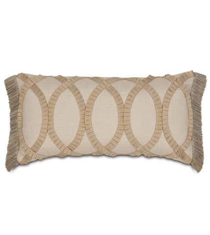 Eastern Accents - Vivo Bisque Pillow with Pleated Ribbon - RAY-08