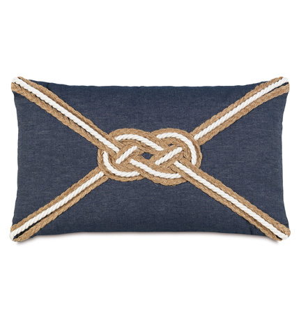 Eastern Accents - Strauss Denim Pillow With Knot - RYD-04