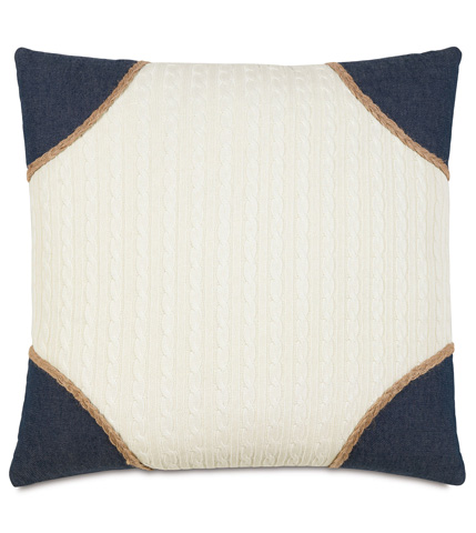 Eastern Accents - Jude Ivory Pillow With Strauss Corners - RYD-07