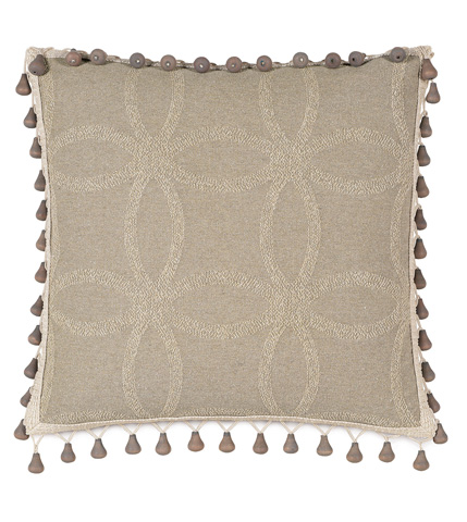 Eastern Accents - Silas Pillow with Beaded Trim - SIL-05