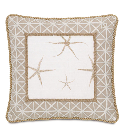 Eastern Accents - Tybee Natural Mitered Pillow - SLG-02