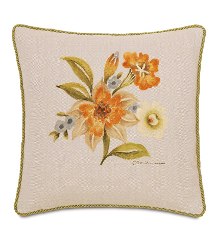 Eastern Accents - Hand-Painted Stelling Motif Pillow - SLG-10