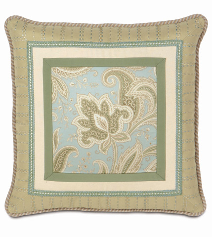 Eastern Accents - Southport Border Collage Pillow - STH-09
