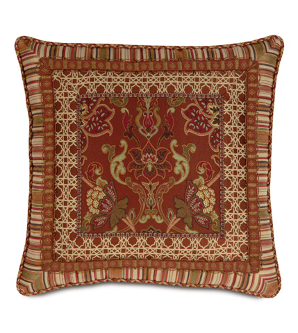 Eastern Accents - Toulon Border Collage Pillow - TUL-03