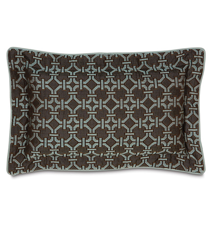 Eastern Accents - Tonkin Espresso Pillow with Flange - VRA-06
