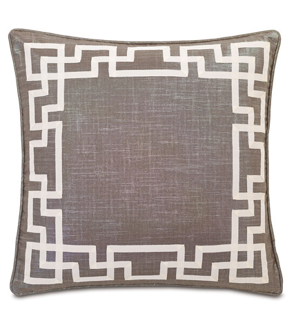Eastern Accents - Reflection Taupe Pillow with Ribbon - WAK-03