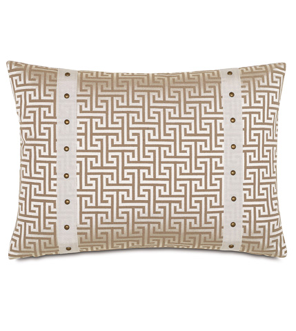 Eastern Accents - Fairley Stone Pillow with Border - WAK-04