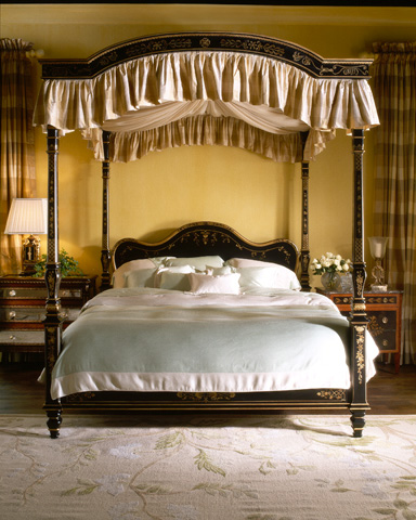 EJ Victor - Julia Gray King Poster Bed with Canopy - 9300-12