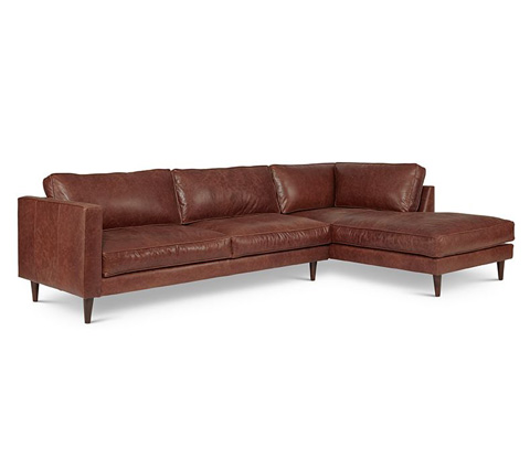Elite Leather Company - Cheviot Sectional - 19010AL-72/19010AR-CH