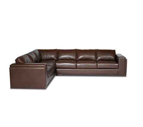 Elite Leather Company - Milan Sectional - 22002AL-80/22002RS-81