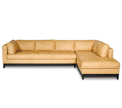 Elite Leather Company - Crystal Cove Sectional - 22008AL-86/22008AR-CH