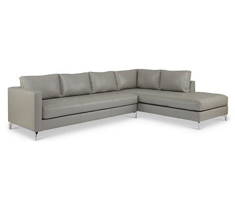 Elite Leather Company - Kyoto Sectional - 22051AL-76/22051AR-CH