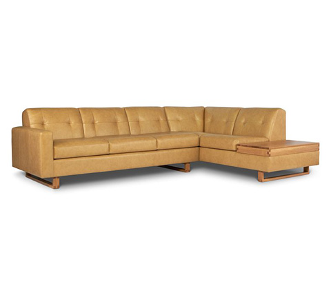 Elite Leather Company - Drake Sectional - 24030AL-75/24030RS-BT