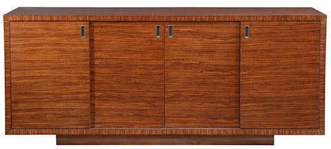 Emerson Bentley - Zebrano Credenza with Four Adjustable Shelves - 10119